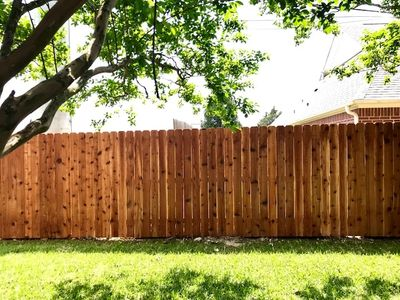 Privacy wood fencing in College Station