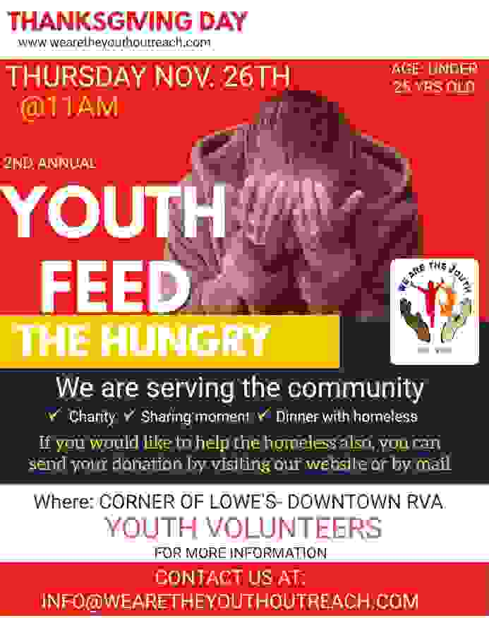 Youth feed the homeless flyer