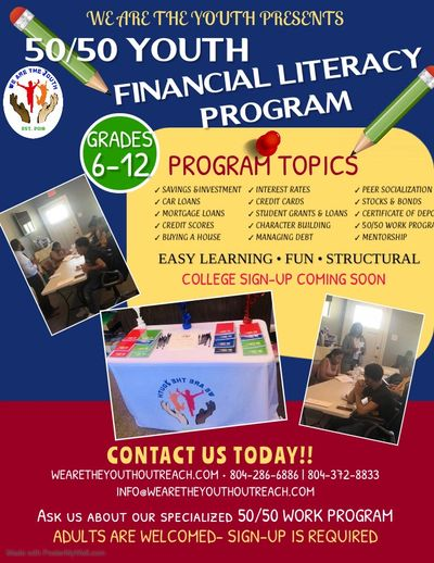 Program topics vary each class. Contact us for more information and sign-up!!