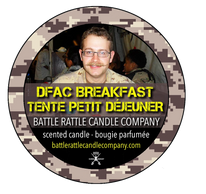 Canadian Veterans Battle Rattle Candle Company scent DFAC BREAKFAST