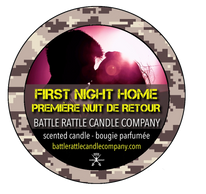 Canadian Veterans Battle Rattle Candle Company scent FIRST NIGHT HOME