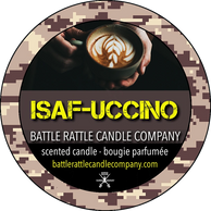 Canadian Veterans Battle Rattle Candle Company scent ISAF-UCCINO