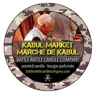 Canadian Veterans Battle Rattle Candle Company scent KABUL MARKET