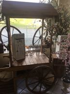 Our Rustic wood candy cart