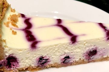 Blueberry cheesecake catering