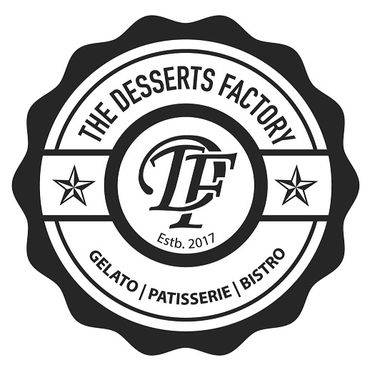 This is The Desserts Factory brand logo.
