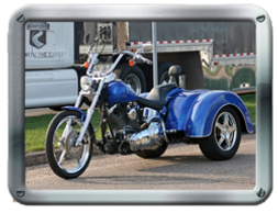 Roadmaster Harley-Davidson HDSTR Trike kit sold by Pair-a-Dice Trikes