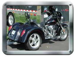 Roadmaster Harley-Davidson HDSTV Trike kit sold by Pair-a-Dice Trikes