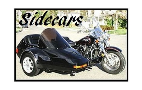 A sidecar sold by Pair-a-Dice Trikes