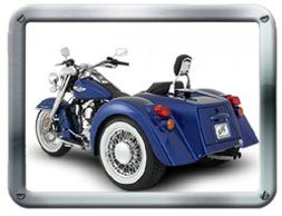 Champion Softail IS Trike kit sold by Pair-a-Dice Trikes