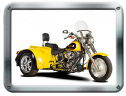 Hannigan Softail Series Harley-Davidson  Trike kit sold by Pair-a-Dice Trikes