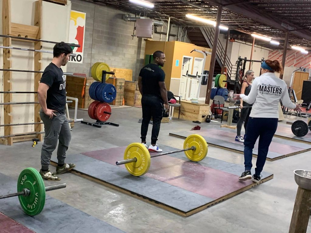 Nashville weightlifting workshop in progress, weightlifting coaching