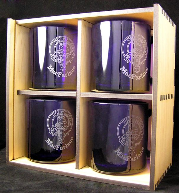 Laser engraved coffe mugs in laser cut gift box