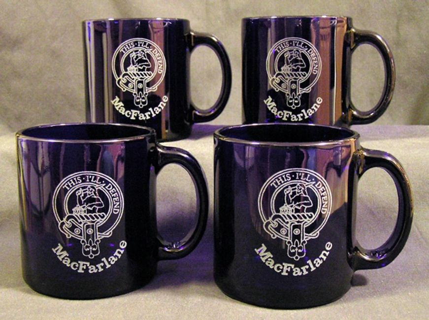 Coffe mugs with laser engraved Coat of Arms
