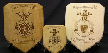 Laser engraved shield plaques