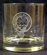 Laser engraved executive whiskey glass