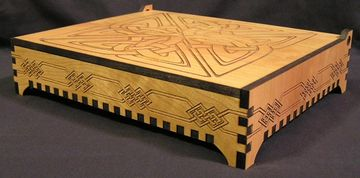 Large laser cut and engraved box