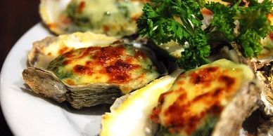 oysters, rockefeller, cajun, new orleans, recipes, classic recipe, baked oysters, seafood, cooking