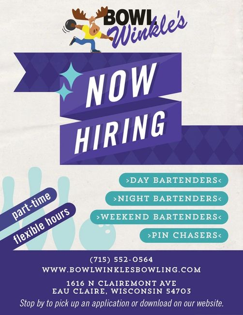 bowl winkle s jobs employment jobs in eau claire jobs bowl