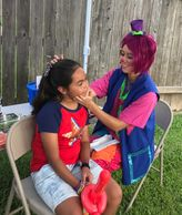 Our artist clown does a combination of face painting and balloons at your carnival party for 2 hours
