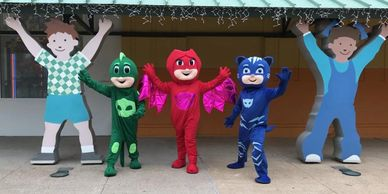 These mascot costumed character will save the day with awesome games & birthday party activities.