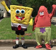 These 2 mascot costumed characters are perfect  for Houston birthday parties. Great costumes& voices