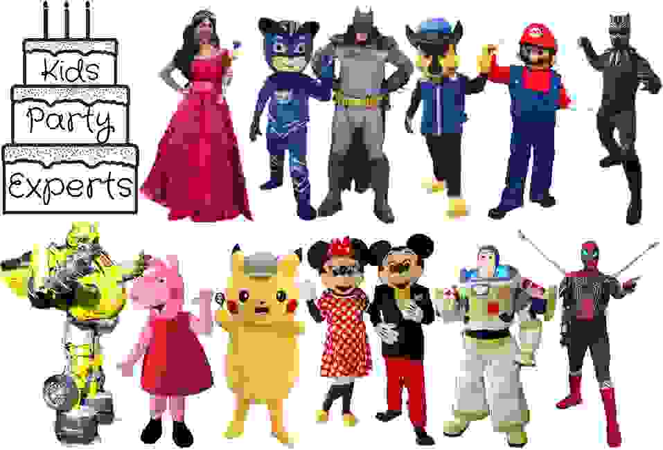 Hire our kids costumed characters for your Houston children's birthday party of special event.