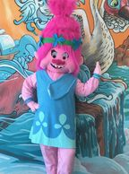 This little troll Mascot loves Houston Birthday Parties. Invite her for a fun Houston mascot Party