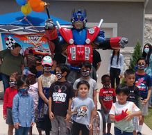 Rent this superhero party character for your children's birthday celebration in Houston 4 great time