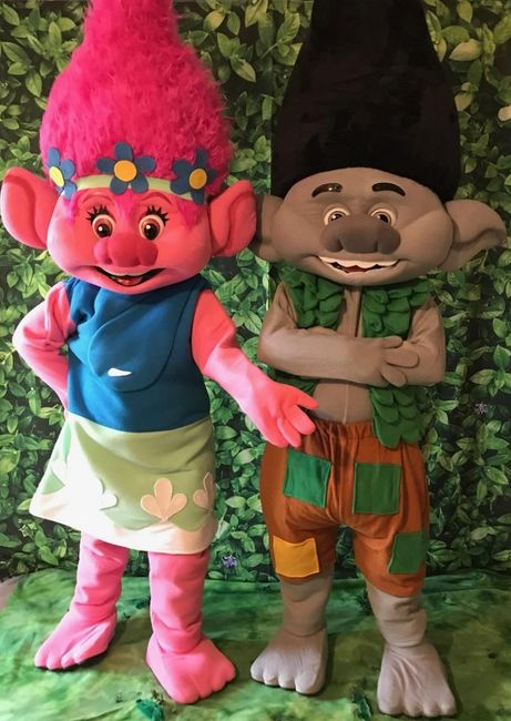Rent these troll mascot party characters for your child's Houston birthday party with fun & games