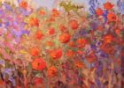 Abstract flower field, Poppies