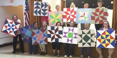 CAMEO members and their Barn Quilts
