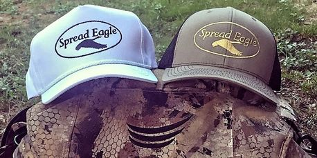 Snow  Goose hunters and Duck hunters are covered with our new Spread Eagle Waterfowl hats.