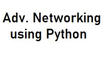 Networking Using Python for Exclusively Designed for ECE