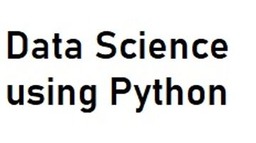 Data Science Using Python Programming