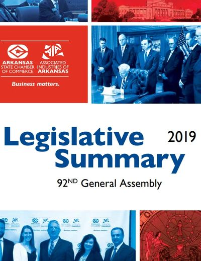 Arkansas' 92nd General Assembly 2019 Legislative Summary