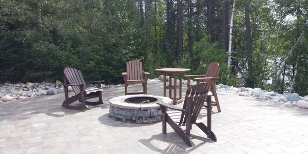 Patio,firepit,free landscape design consultation in Barrie, TOUGH OAKS Landscaping in Barrie