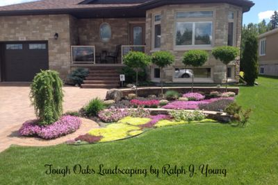 TOUGH OAKS-Landscaping Barrie specialized stone work driveway yard design & landscaping construction