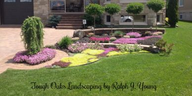 Tough Oaks Landscaping Company Barrie Innisfil Oro-Medonte  sod lawn plant  astro turf installation