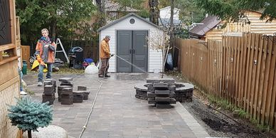 Tough Oaks Landscaping Company Contractor Landscaper Barrie project job site clean up