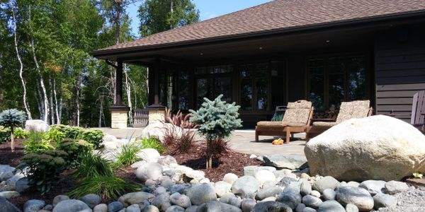 patio, deck, interlock, natural stone, river rock, Tough Oaks Landscaping in Barrie