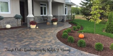 driveway stone interlocking paver design & construction Tough Oaks Landscaping Barrie Innisfil Oro-M