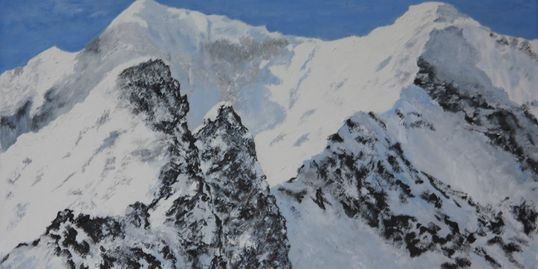 Original Painting: Crib Goch in Winter
