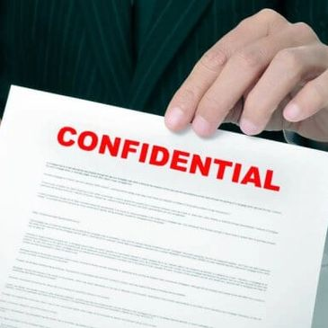 Strict confidentiality