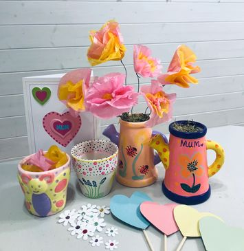 Mothers day pottery paint children's craft courses Harpenden