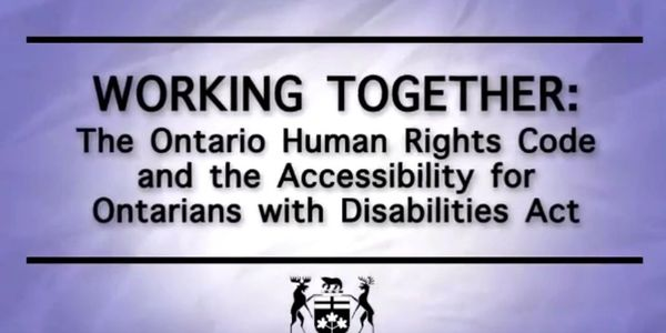 The Accessibility for Ontarian's with Disabilities Act (AODA)