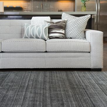 BK-01 Charcoal Design; Barkley Collection; Transitional Style Rugs; Hand-Loomed