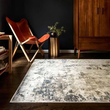 CAS-04 Ivory / Natural Design; Cascade Collection; Contemporary Style Rugs; Power-Loomed