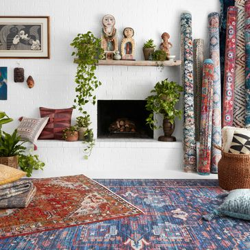 CIE-04 Blue/Multi Design; Cielo Collection; Transitional Style Rugs; Power-Loomed