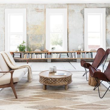 EVE-01 Natural Design; Evelina Collection; Contemporary Style Rugs; Hand-Woven